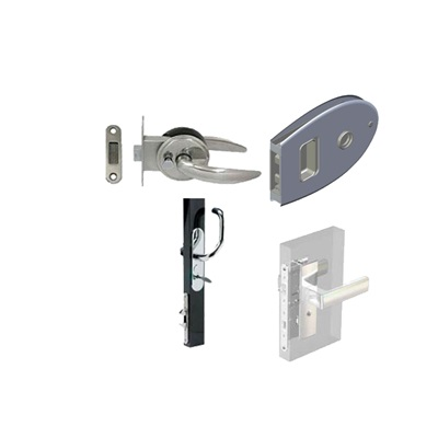 Locks for swinging doors and sliding doors